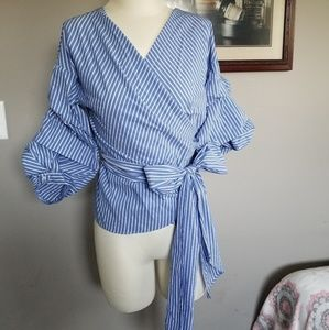 Tie pin stripe top